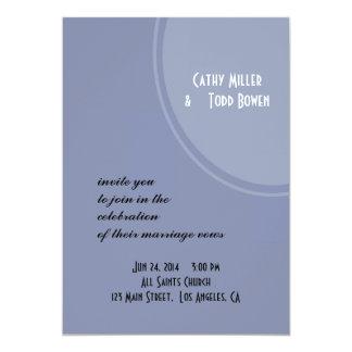 Boda moderno azul claro invitación 12,7 x 17,8 cm