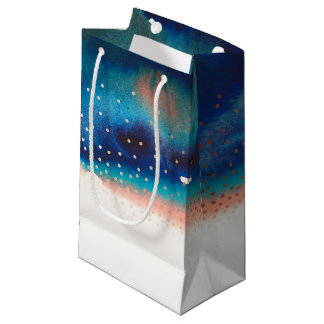 Boda moderno de la acuarela de la turquesa y del bolsa de regalo pequeña