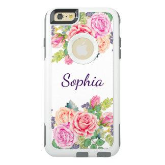 Boda moderno de los rosas florales del vintage de funda otterbox para iPhone 6/6s plus