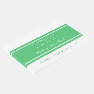 Boda moderno del verde esmeralda libro de invitados