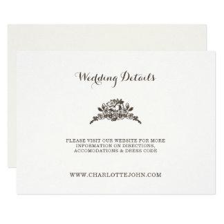boda moderno simple del vintage invitación 8,9 x 12,7 cm