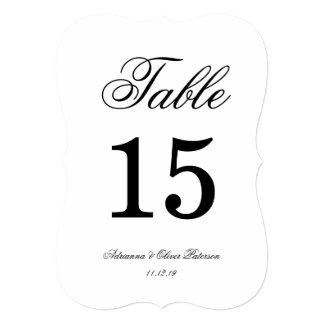 Boda negro y blanco simple elegante invitación 12,7 x 17,8 cm