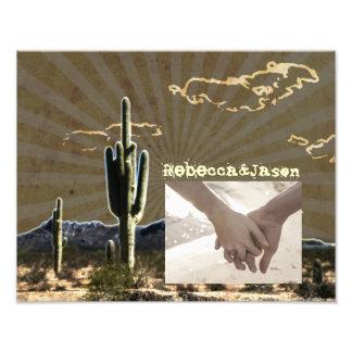 Boda occidental del vaquero del cactus rústico del fotografía
