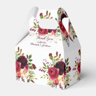 Boda oscuro romántico del ramo floral de los rojos caja para regalos