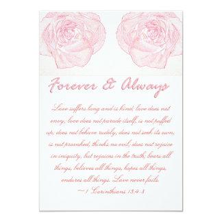 Boda para siempre y siempre color de rosa de la