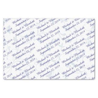Boda personalizado - azul papel de seda