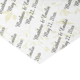 Boda personalizado papel de seda