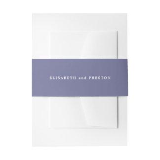Boda personalizado púrpura violeta sólida cintas para invitaciones