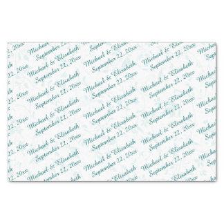 Boda personalizado - turquesa papel de seda