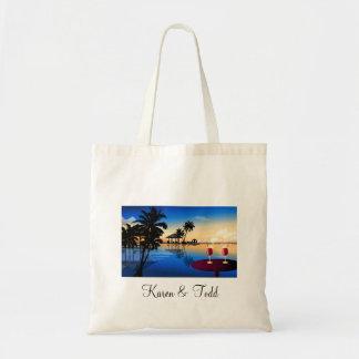Boda = personalizar del destino con su propio nomb bolsa tela barata