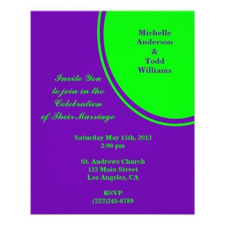 boda púrpura brillante del círculo de la MOD del v Folleto 11,4 X 14,2 Cm