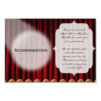 Boda rojo de la etapa de la cortina del terciopelo invitación 8,9 x 12,7 cm