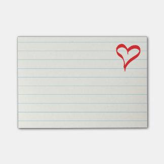 Boda rojo del amor del corazón, duchas nupciales, notas post-it®