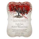 Boda rojo rústico del árbol de la hoja del corazón
