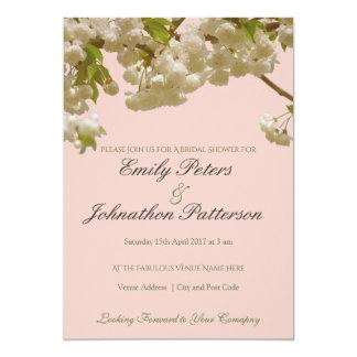 Boda romántico de la flor de cerezo del verano de invitación 12,7 x 17,8 cm