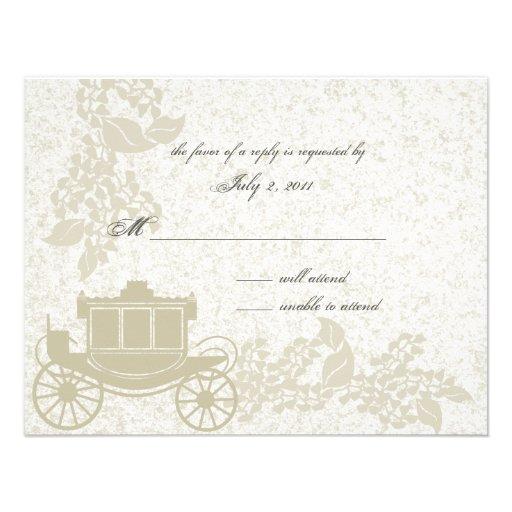 Boda romántico del carro invitación