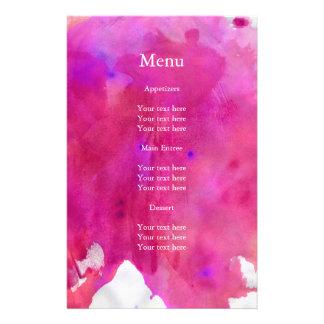 Boda rosado de la acuarela folleto 14 x 21,6 cm