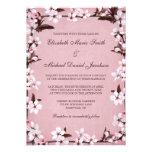 Boda rosado de la frontera de las flores de cerezo