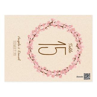 Boda rústico de la guirnalda de la flor de la flor postal