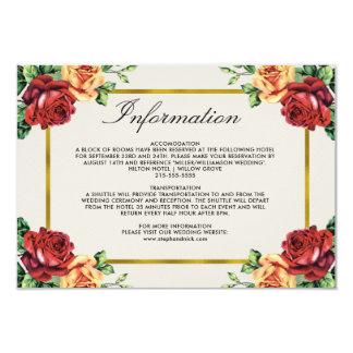 Boda rústico del marco de la hoja de oro de la invitación 8,9 x 12,7 cm