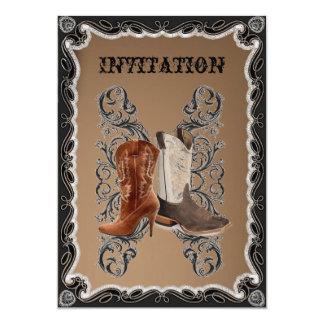 Boda rústico del vaquero del país occidental invitación 12,7 x 17,8 cm