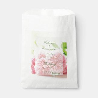 Boda subió verano rosado elegante bolsa de papel