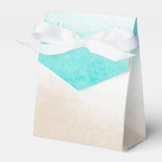 Boda sutil del trullo de la acuarela y de playa caja de regalos