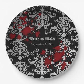 Boda temático del gótico plato de papel