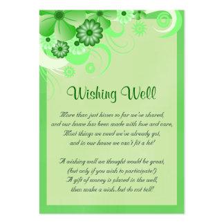 Boda verde del hibisco que desea tarjetas bien tarjetas de visita grandes