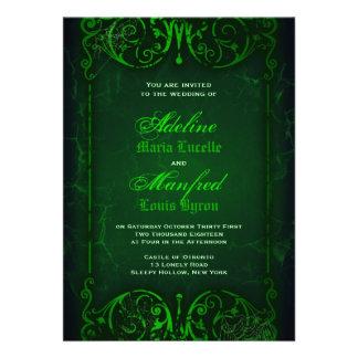 Boda verde horrible del Victorian gótico Comunicados