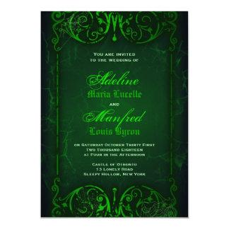 Boda verde horrible del Victorian gótico Invitación 12,7 X 17,8 Cm