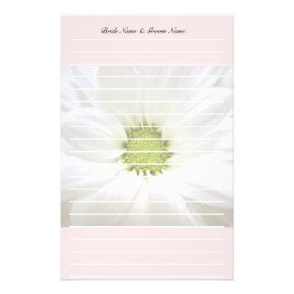 bodas de la flor de la margarita blanca papelería de diseño
