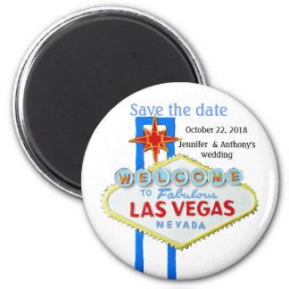 Bodas de Las Vegas Imán Redondo 5 Cm