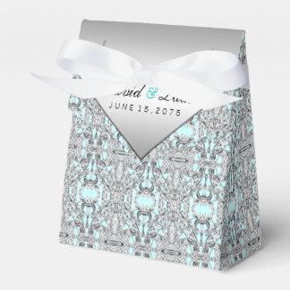 Bodas de plata azul y del trullo caja de regalos