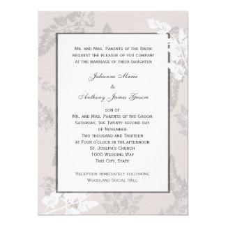 Bodas de plata de la naturaleza romántica invitación 13,9 x 19,0 cm