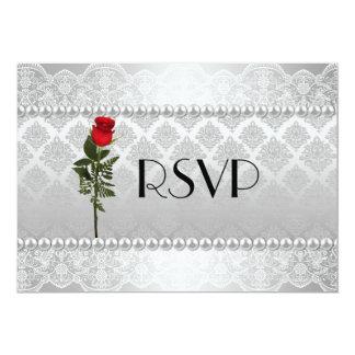 Bodas de plata gay elegante RSVP Invitación 12,7 X 17,8 Cm