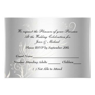 Bodas de plata popular RSVP Invitación