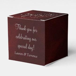 Bodas de plata roja elegante caja de regalos
