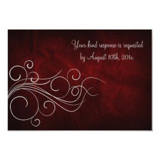 Bodas de plata roja elegante invitación 8,9 x 12,7 cm