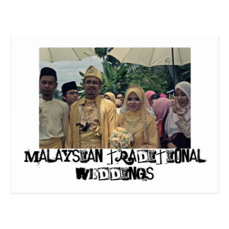 Bodas del Malay Tarjetas Postales
