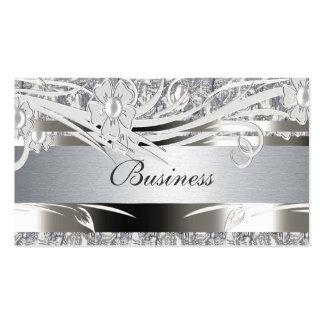 Bodas florales de la plata de la tarjeta de visita