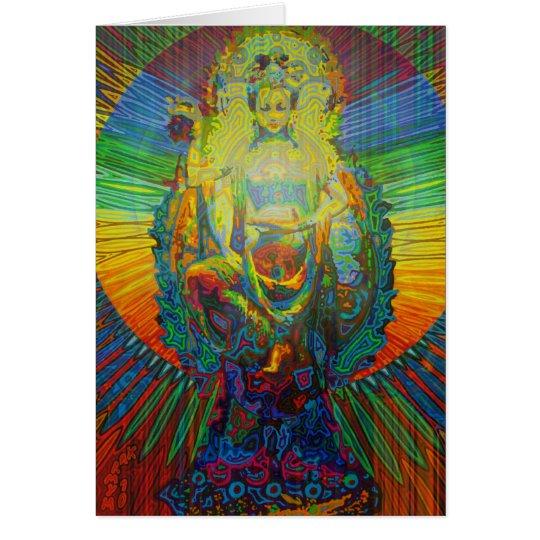 bodhisattva digitalmente 2011 as greeting card tarjeta de felicitación