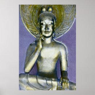 Bodhisattva Kannon de Buda del japonés del vintage Póster