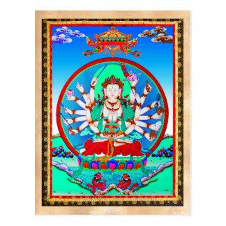 Bodhisattva tibetano fresco de Cundhi del tatuaje Postal