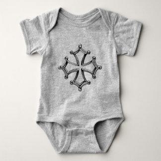 Body bebé gris Cruz occitana