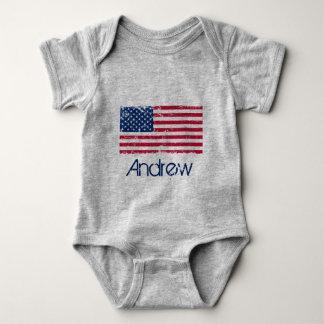 Body en Jersey para bebé, Bandera los EE.UU
