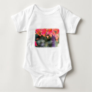 Body Para Bebé 16:8 del salmo en las hojas de la caída