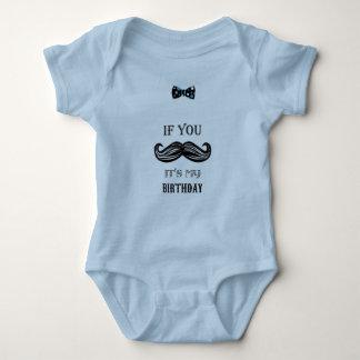 Body Para Bebé 1r cumpleaños - bigote - pequeño hombre - bebé