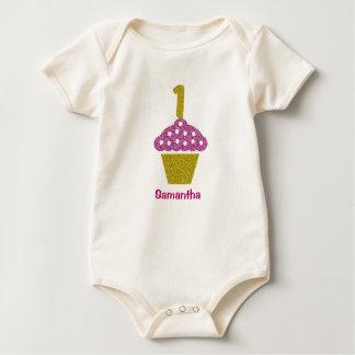 Body Para Bebé 1r cumpleaños del bebé con el mono de la magdalena