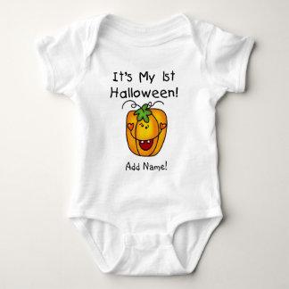 Body Para Bebé 1ra enredadera personalizada de Halloween de la